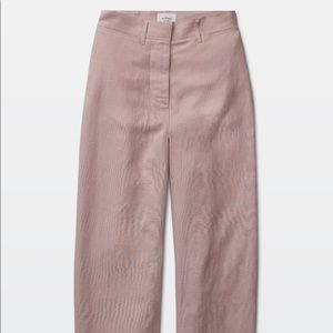 Aritzia Wilfred blush linen pants
